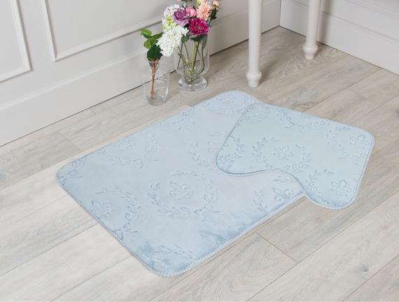Banyo Halısı Açık Mavi 70x110cm
