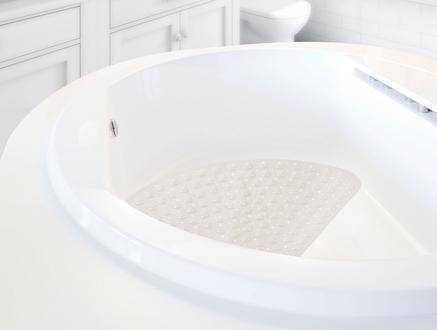 Vakumlu Şeffaf Pvc Banyo Paspası - Toprak
