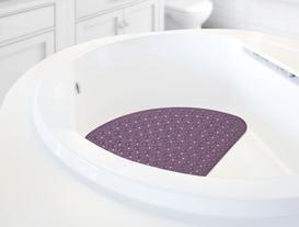 Vakumlu Şeffaf Pvc Banyo Paspası 54X54 CM
