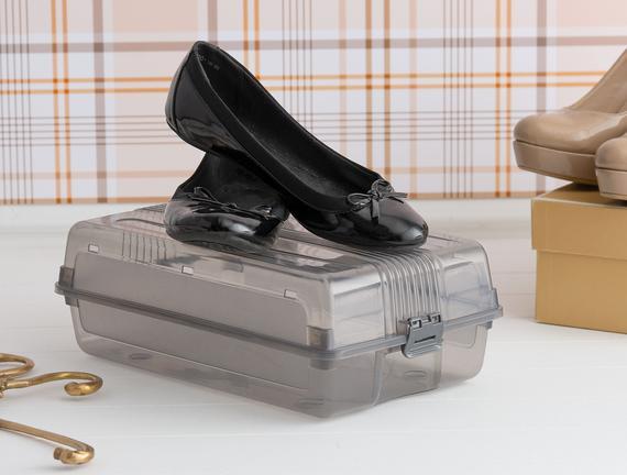 Kadın Ayakkabı Saklama Kutusu - Açık Gri