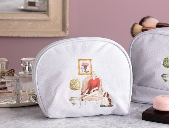 Oval Cosmetic Bag