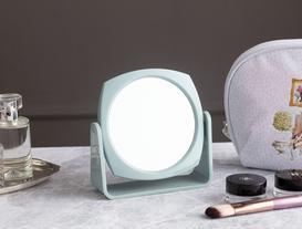 Çift Yüzlü Makyaj Aynası - Yeşil