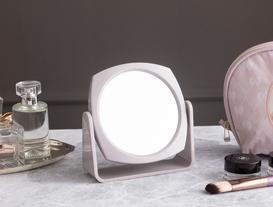 Çift Yüzlü Makyaj Aynası - Açık Mürdüm