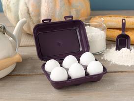 6'lı Yumurta Saklama Kabı - Koyu Mürdüm