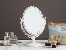 Scheler Çift Taraflı Masa Aynası - Beyaz