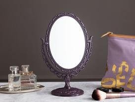 Scheler Çift Taraflı Masa Aynası - Koyu Mürdüm