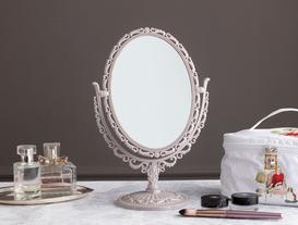 Scheler Çift Taraflı Masa Aynası - Açık Mürdüm