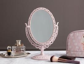Scheler Çift Taraflı Masa Aynası - Pudra