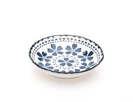 Rêve Bleu Trefle New Bone China Mini Oval Tabak