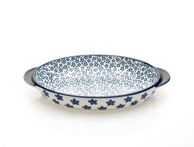 Rêve Bleu Fleur Sauvage New Bone China Kulplu Oval Tabak