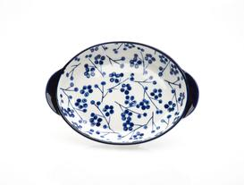 Rêve Bleu La Graine New Bone China Kulplu Oval Tabak