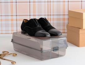 Erkek Ayakkabı Kutusu - Koyu Gri