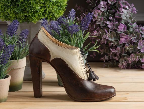 Vintage Ayakkabı Biblosu - Ekru