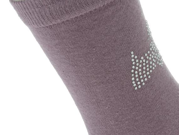 Kristal Köpek Baskılı Bayan Soket Çorap