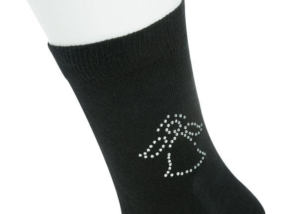 Kristal Melek Baskılı Bayan Soket Çorap