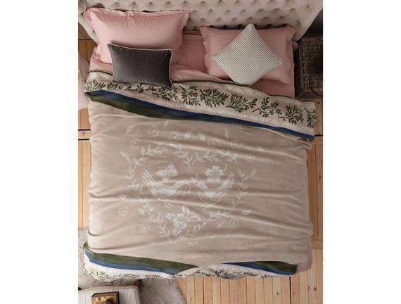 Jacquard Cotton Double-Size Blanket