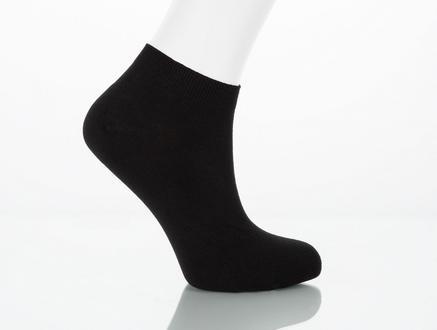 Leaf Patik Çorap - Siyah