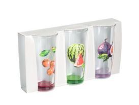 Summer Fruits 3'lü Su Bardağı