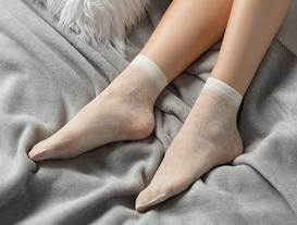 Begonvil Soket Çorap - Ekru