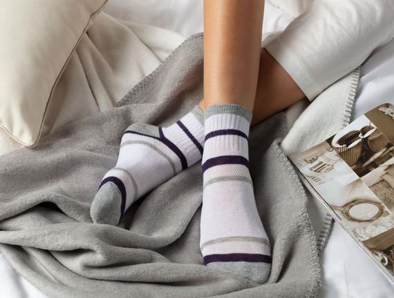 Bayan Yarım Konç Çorap (Çizgili)