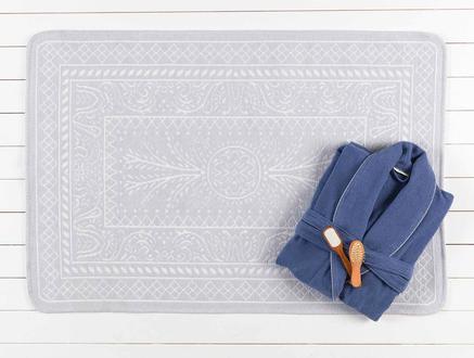 Ivy Çift Taraflı Şönil Kilim - Açık Mavi / Beyaz - 120x180 cm