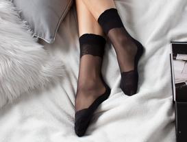 Eva Mesh Socks - Black