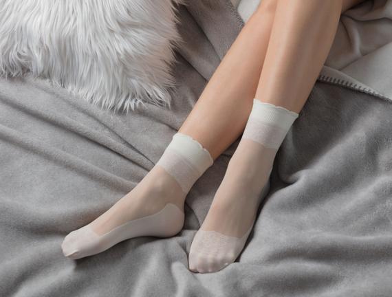 Eva Soket Çorap - Ekru