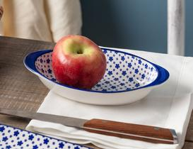 New Bone China Oval Kulplu Tabak