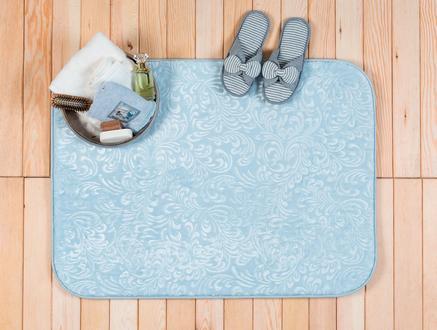 Ivy Emboss Banyo Paspası - Açık Mavi