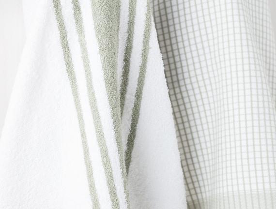 2'li Mutfak Havlusu - Yeşil / Beyaz - 40x60 cm