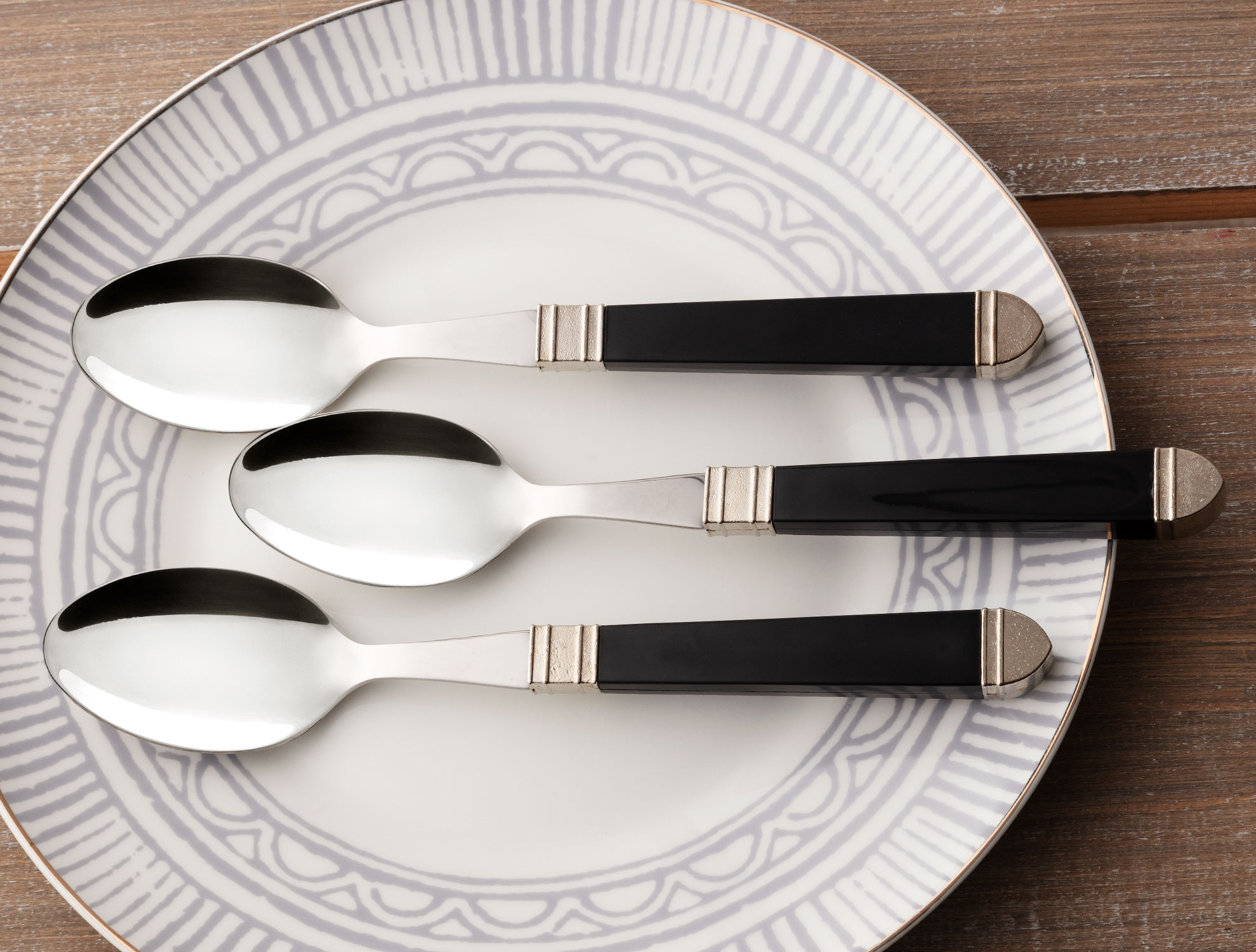 CHESTER BLACK TABLE SPOON
