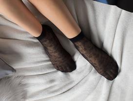 Begonvil Soket Çorap - Siyah