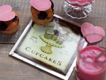 Cupcakes Kare Bardak Altlığı - Toprak