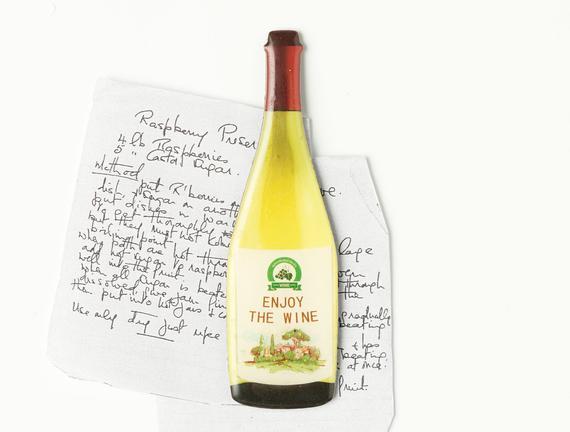 Buzdolabı Magneti - Beyaz Şarap