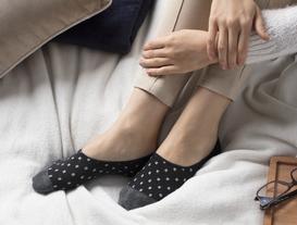 Simli Kareli Kadın Babet Çorabı - Siyah / Silver