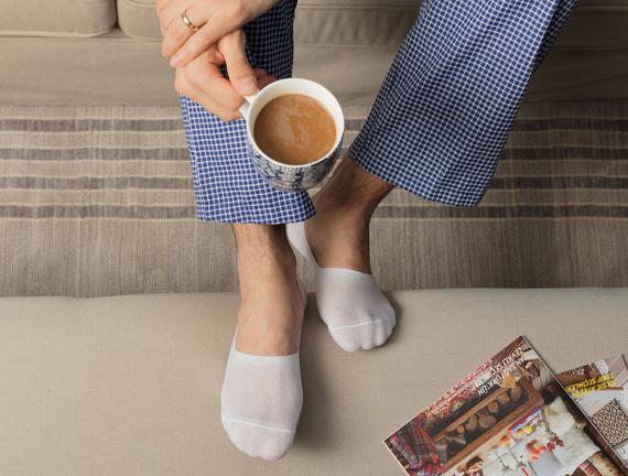 Erkek 2'li Suba Çorap - Beyaz