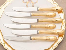 Fiyonk Motifli 6'lı Yemek Bıçağı
