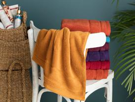 Daily Microcotton Face Towel - Mustard