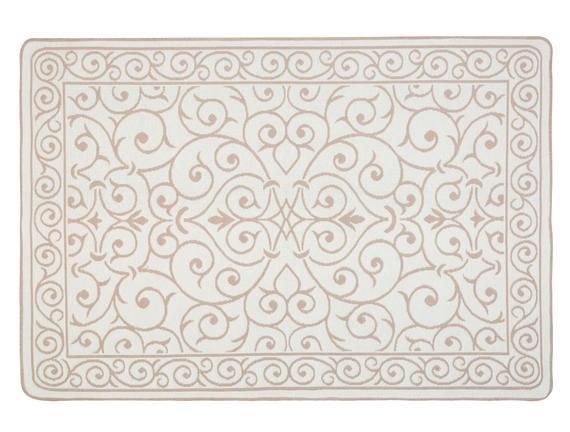 Lierre Çift Taraflı Şönil Kilim - Pudra - 120x180 cm