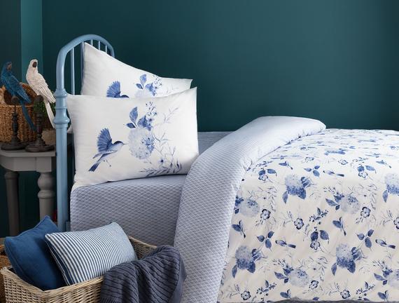 Lierre Single-Size Cotton Ranforce Duvet Cover Set