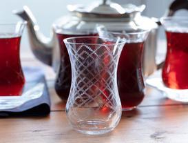 Bobbin Lace 6'lı Çay Bardağı