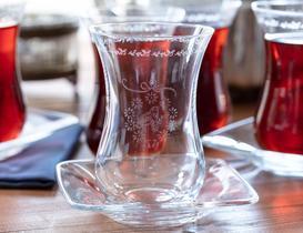 Vintage Bird 6'lı Bohemia Kristal Çay Bardağı
