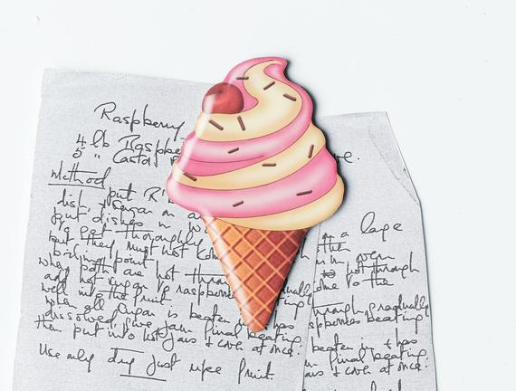 Buzdolabı Magneti - Vişneli Dondurma