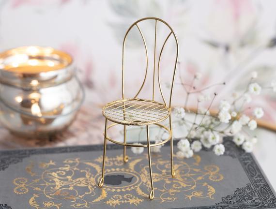 Gold Mini Sandalye