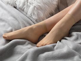 Begonvil Soket Çorap - Ten