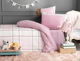 Menton Double-Sided King-Size Ranforce Duvet Cover Set - Pink