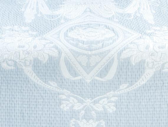 Le Chalet Çift Kişilik Yatak Örtüsü - Açık Mavi