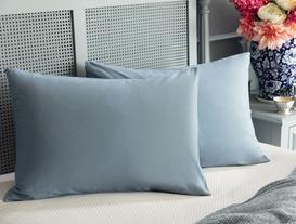 Feuilles 2-Piece Ranforce Pillowcase - Indigo