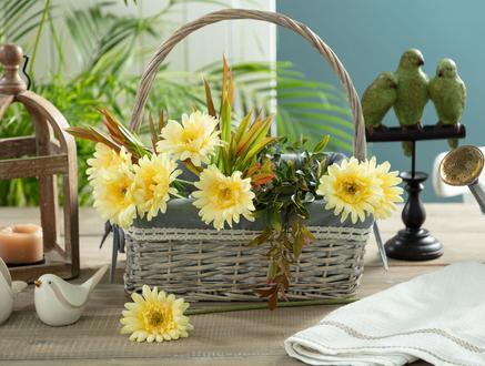Betta Gerbera Çiçek - Sarı
