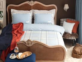 Menton Double-Sided Double-Size Ranforce Duvet Cover Set - Blue